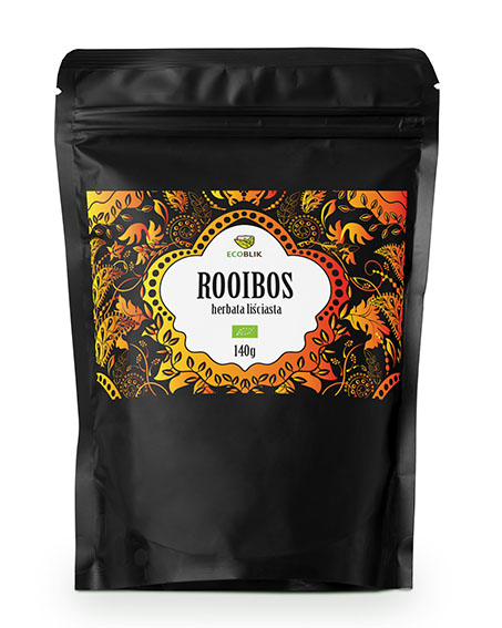 moch-up of rooibos tea