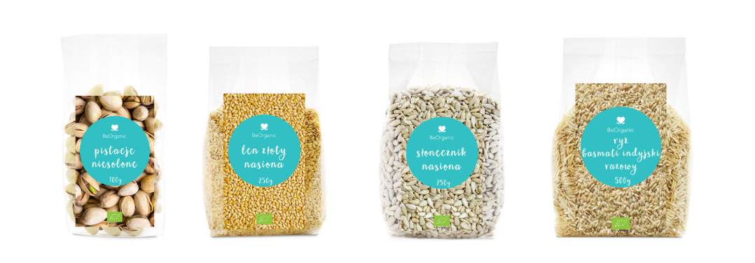 Be Organic set packaging