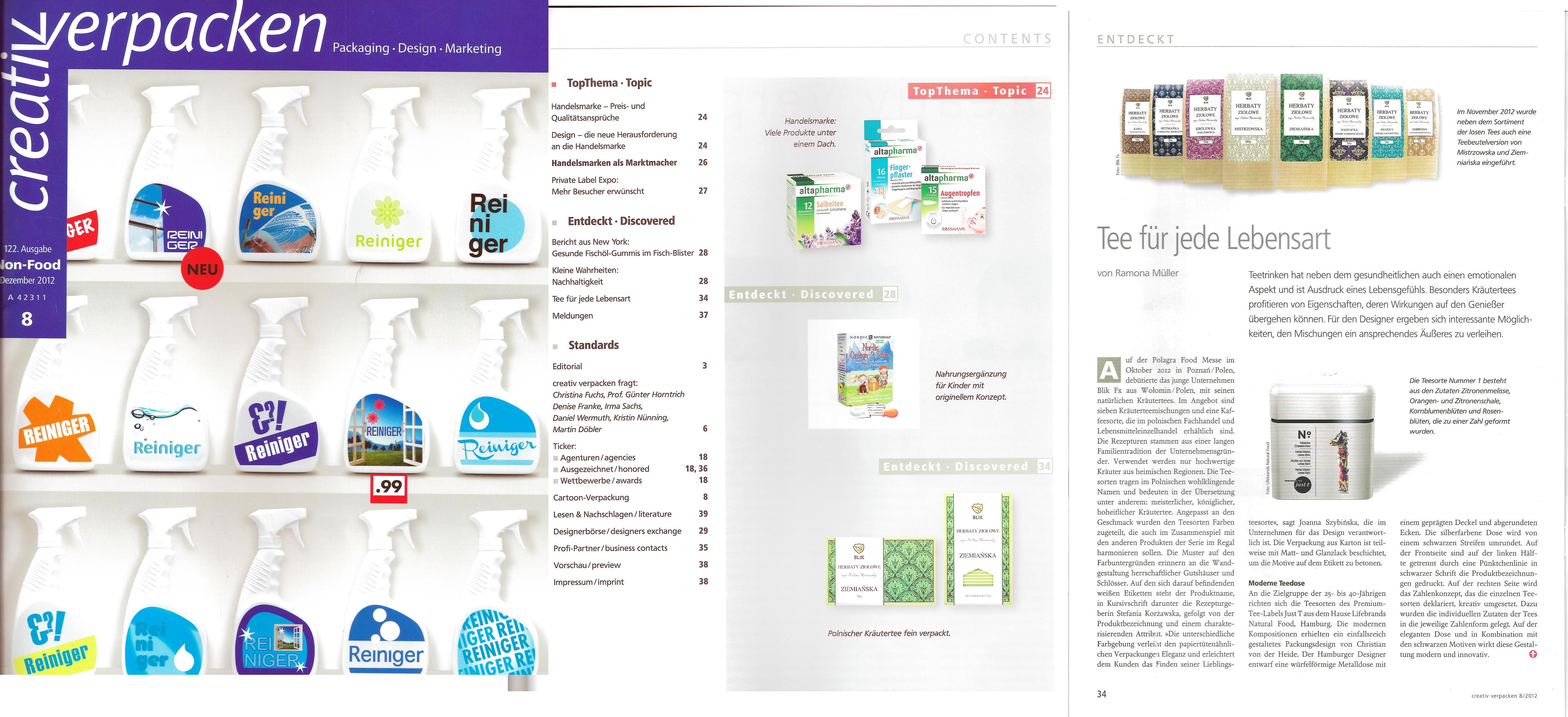 zdjęcie artykułu z niemieckiego magazynu dla dizajnerów