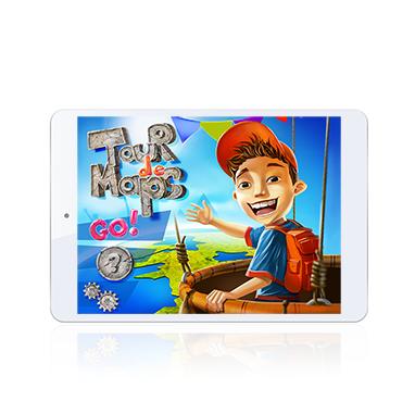 Tour de Maps app screen presented on iPad