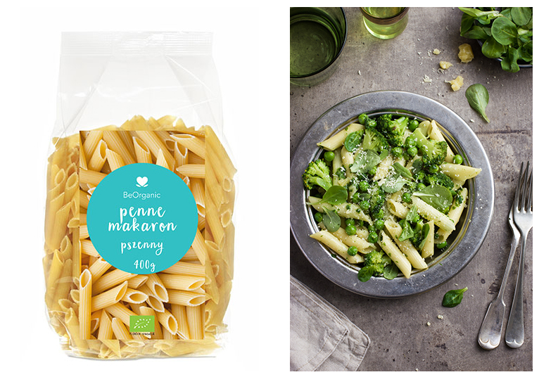 penne pasta packaging